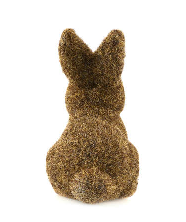 statuette: Toy bunny statuette isolated over the white background Stock Photo