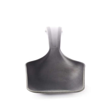 plastic scoop: Black plastic kitchen cooking scoop isolated over the white  Stock Photo