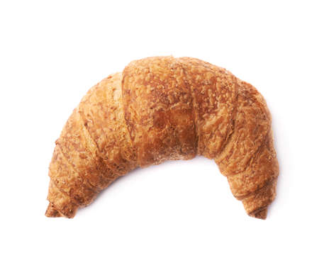 bandy: Sweet croissant pastry bun isolated over the white background