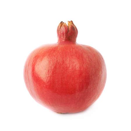 granatum: Pomegranate punica granatum fruit isolated over the white background Stock Photo