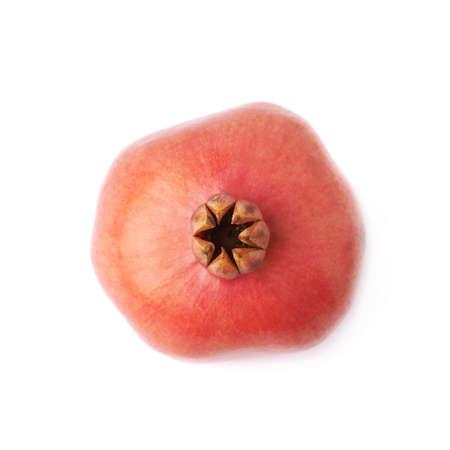 punica granatum: Pomegranate punica granatum fruit isolated over the white background Stock Photo