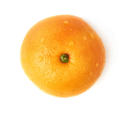 grapefruit: Fresh juicy ripe grapefruit covered with the multiple water drops, isolated over the white background, top view