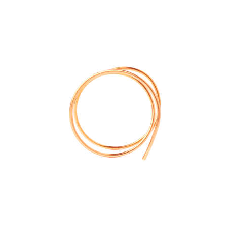 metal wire: Bronze metal wire over white isolated background Stock Photo