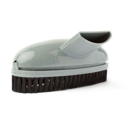 held: Hand held small vacuum brush head cleaner isolated over the white background