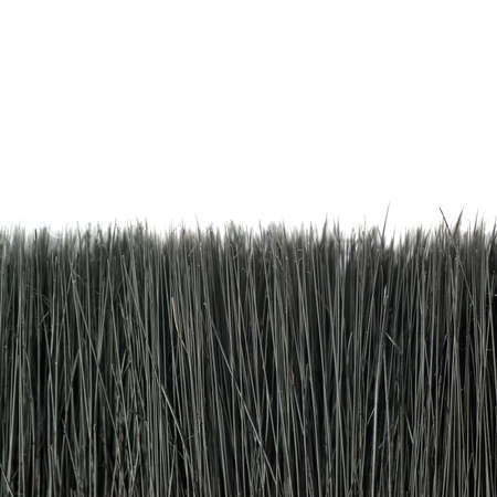 bristle: Paint working brush bristle hair over isolated white background Stock Photo