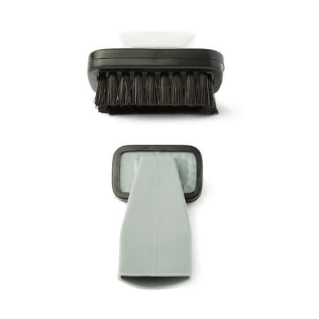 hand held: Set of Hand held small vacuum brush head cleaner isolated over the white background