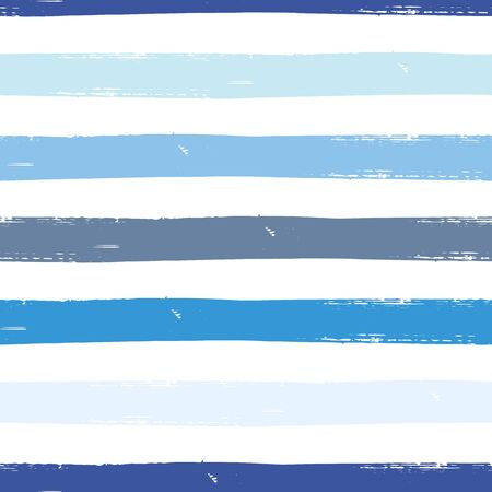 Watercolor vector seamless pattern with stripes. Dye striped background.