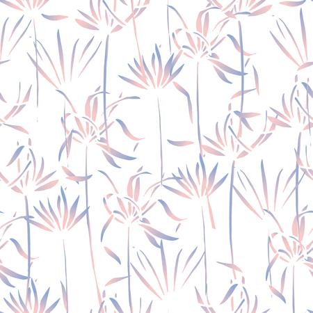Vector tropische Blätter Muster. Palm Aquarell nahtlose Hintergrund. Exotische tropische Blätter Muster. Nahtloses Muster der Sommerbadebekleidung mit Palmen. Standard-Bild - 80093051
