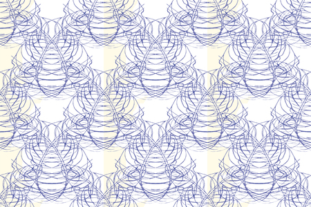 grid: Modern seamless pattern. Damask Tile. Floral Indigo Print. Monochrome Geometry Ornament. Vector Leaf Backdrop. Illustration