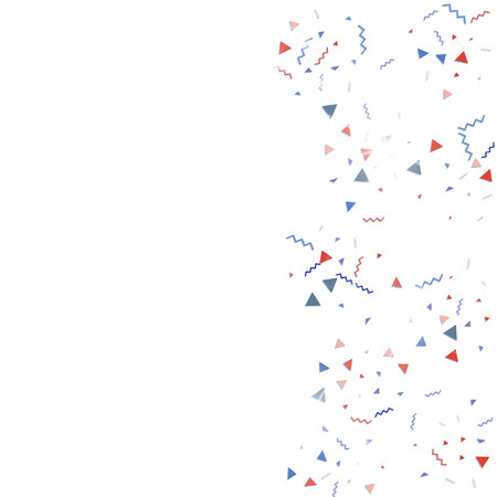 Blue and red confetti