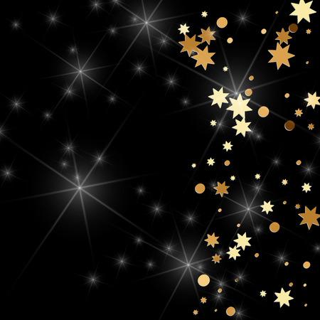 Gold confetti. Ilustrace
