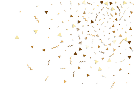 Gold glitters confetti icon.