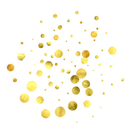 Falling  golden circles confetti Illustration