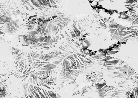 Painted watercolor pattern. Abstract geometric oriental seamless print. Standard-Bild