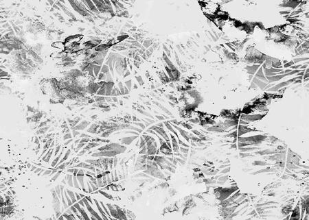 Painted watercolor pattern. Abstract geometric oriental seamless print. Foto de archivo