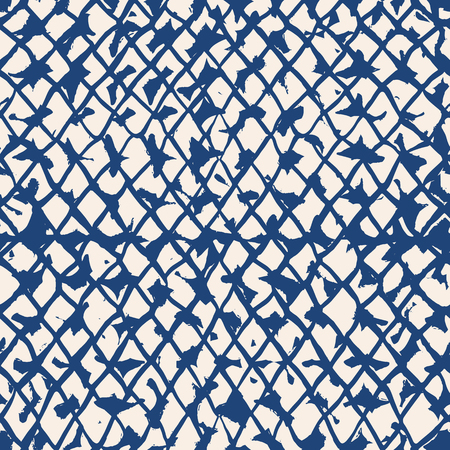 Endless watercolor texture vector. Indigo tie dye seamless pattern. Natural tiles. Japan cotton background. Batik bed vector texture. China hand dyeing white cotton background.