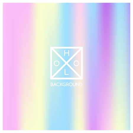 Holographic background. Holo sparkly cover. Iridescent gradient. Abstract soft pastel colors backdrop. Trendy creative vector. Mesh holographic foil. Creative neon template for banner. Vibrant print. 일러스트