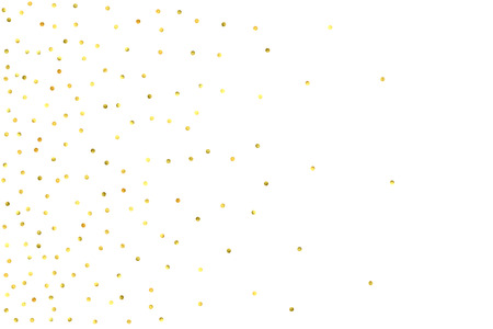 Vector glitter background. Cute small falling golden dots. Sparkle background. Glitter sparkle confetti texture. New year celebration invitation card template with luxury stardust. Gold chridtmas card