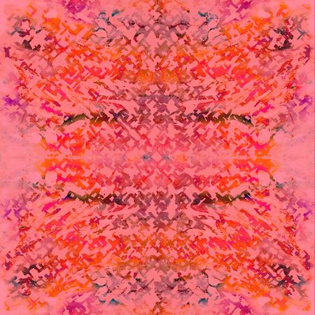 Tie dye seamless pattern. Hand drawn shibori print. Ink textured japanese background. Modern batik wallpaper tile. Watercolor endless backdrop.  Colored japan cotton texture with dots.  Stock Photo