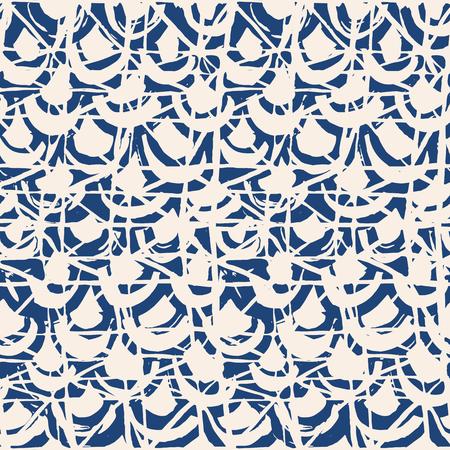 Indigo tie dye seamless pattern. Print texture waves. Geometrical seamless vector stripes. Striped watercolor texture batik. Watercolour pattern. Organic japanese natural tiles. Blue and white print.