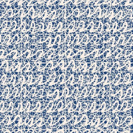 Indigo tie dye seamless pattern. Print texture waves. Geometrical seamless vector stripes. Striped watercolor texture batik. Watercolor pattern. Organic Japanese natural tiles. Blue and white print.