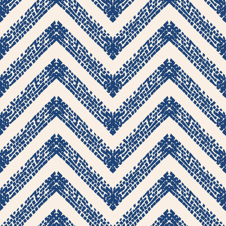 Indigo tie dye seamless pattern. Print texture waves. Geometrical seamless vector stripes. Striped watercolor texture batik. Watercolour pattern. Organic japanese natural tiles. Blue and white print.