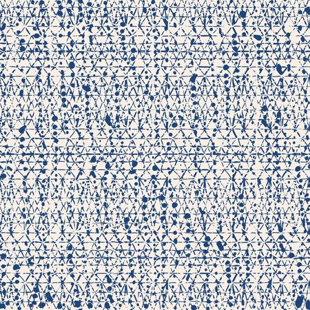 無限の水彩テクスチャ ベクトル。インディゴネクタイ染料シームレスパターン。自然なタイル。日本綿の背景。