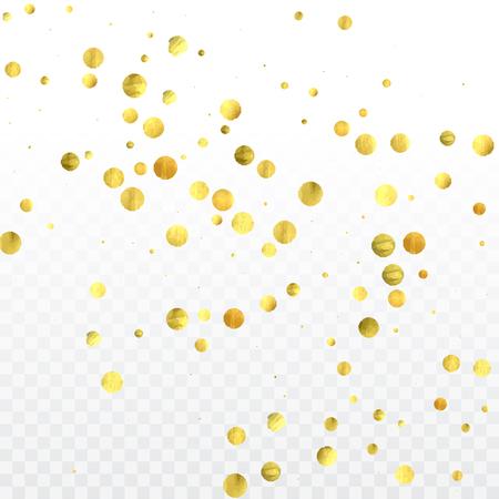 gold confetti celebration birthday party invitation background