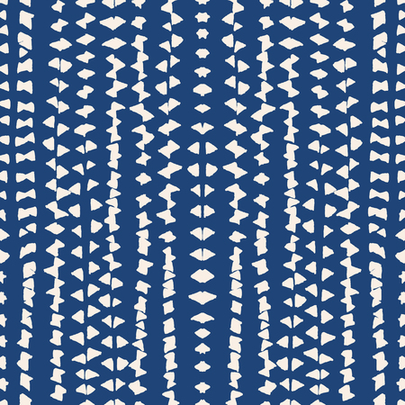 Bindungsfärbungs-Aquarellmuster. Vektortradition shibori Druck. Geometrische minimale endlose Fliese. Abgezogene Textur. Japan endloses Verhältnis. Orientalisches nahtloses Muster des Vektorkimonobindungs-Farbstoffs.