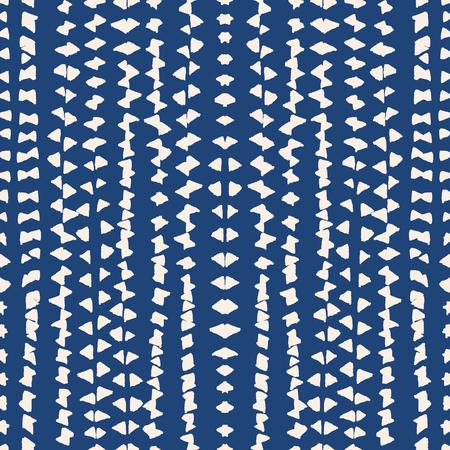 Tie dye watercolor pattern. Vector tradition shibori print. Geometric minimal endless tile. Stripped texture. Japan endless rapport.  Vector kimono tie dye oriental seamless pattern.