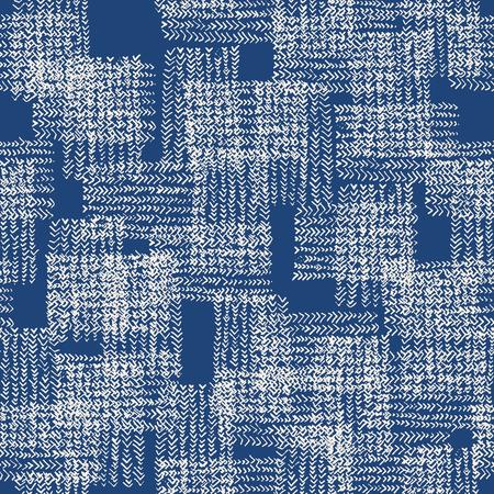Tie dye watercolor seamless pattern. Vector tradition shibori print. Geometric minimal endless tile. Organic texture. Japan endless rapport.  Vector kimono tie dye oriental seamless pattern. Illustration