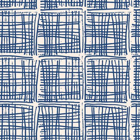 Endless watercolor texture vector. Indigo tie dye seamless pattern.