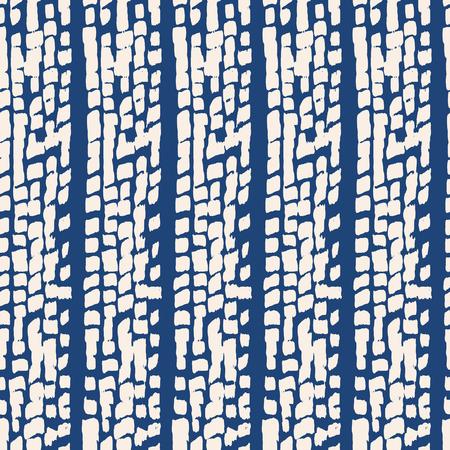 Indigo vector tie dye seamless pattern. Abstract watercolor. Natural tiles. Organic texture.Watercolour print. Japan folk pattern. Organic textile. Japanese seamless natural texture. Indigo batik.  Vettoriali