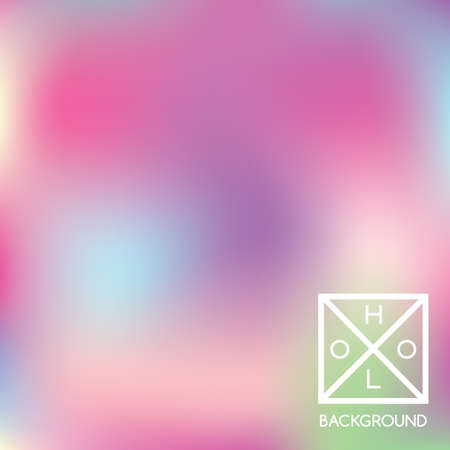 Holographic background. Holo sparkly cover. Iridescent gradient. Abstract soft pastel colors backdrop. Trendy creative vector. Mesh holographic foil. Creative neon template for banner. Vibrant print. Vectores