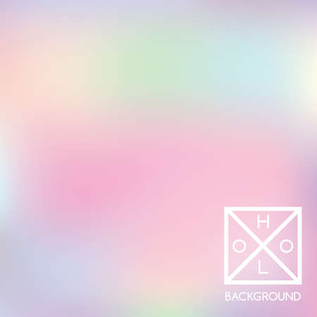 Holographic background. Holo sparkly cover. Iridescent gradient. Abstract soft pastel colors backdrop. Trendy creative vector. Mesh holographic foil. Creative neon template for banner. Vibrant print. 矢量图像
