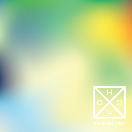 Holographic backdrop. Hologram iridescent cover. Abstract soft pastel colors backdrop. Minimal creative vector gradient. Pastel holographic foil. Creative neon template for banner. 일러스트