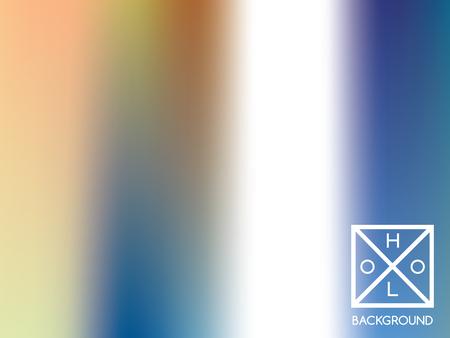 Holographic backdrop. Holo iridescent cover. Gradient soft pastel colors backdrop. Minimal creative vector gradient.  Mesh holographic foil.  Creative neon template for banner. Vibrant print. Ilustração
