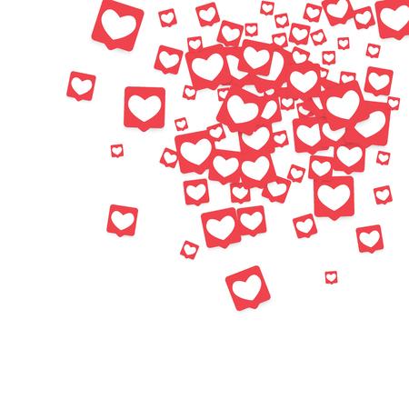 Social media heart reaction counter icon