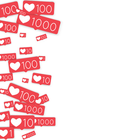 Heart image pattern with numbers illustration