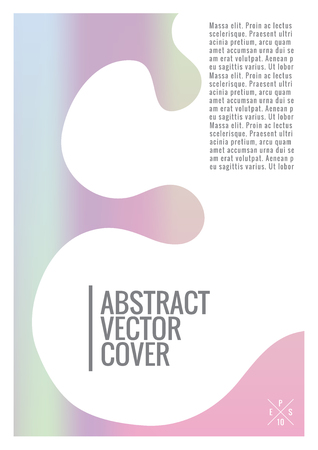 Holo cover. Flat eco placard. Vector abstract holographic pattern for poster design. Organic summer flyer. 2d prints for banner background.  Exotic jungle pattern for backdrop. Business template. Ilustrace