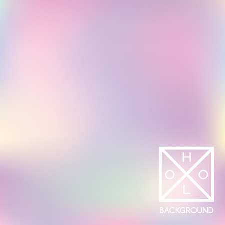 Holographic background. Holo sparkly cover. Abstract soft pastel colors backdrop. Trendy creative vector cosmic gradient. Pastel holographic foil. Vintage neon template for banner.