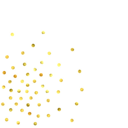 Foil gold confetti. Celebrate background. Watercolor golden sparkles and dots. Explosion backdrop. Luxury invitation card template. Falling gold confetti. Glitter background. 矢量图像