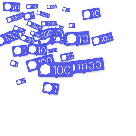 Fondo de marketing de redes sociales con número de icono de comentarios.