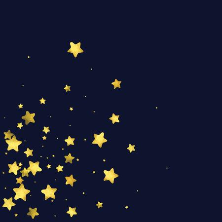 Star gold confetti pattern design