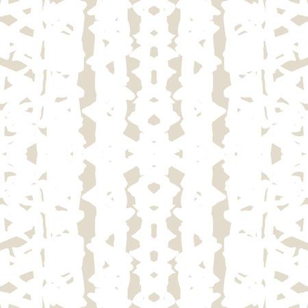 Triangle tie dye pattern. Shibori ivory background. Geometric china ink natural print. Illustration