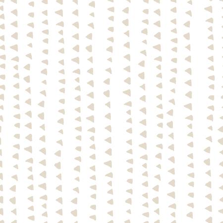 Triangle tie dye pattern. Shibori ivory background. Geometric china ink natural print. Organic vector japanese design. Watercolor indonesian tile. Triangle seamless pattern. Japan kimono print.