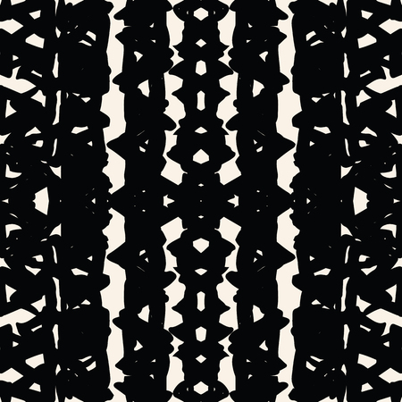 Triangle tie dye pattern. Shibori seamless background. Geometric china ink natural print. Organic vector japanese design. Watercolor indonesian tile. Triangle seamless pattern. Japan kimono print. Illustration