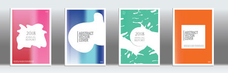 Rainbow cover template. Wedding exotic layout. Background for corporate annual report, poster, magazine first page. Minimal leaflet, business flyer. Promotion concept card. A4 flat abstract art