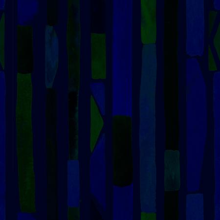 Bauhaus pattern. Blue geometric watercolor abstract seamless print. Watercolour stripe background. Kaleidoscope lines. Contemporary art illustration. Bauhaus graphic design. Trendy texture