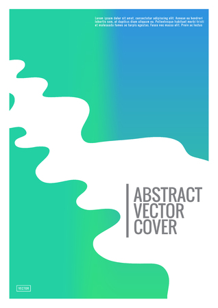 Green cover template. Wedding exotic layout. Background for corporate annual report, poster, magazine first page. Minimal leaflet, business flyer. Promotion concept card. A4 flat abstract cover Illustration
